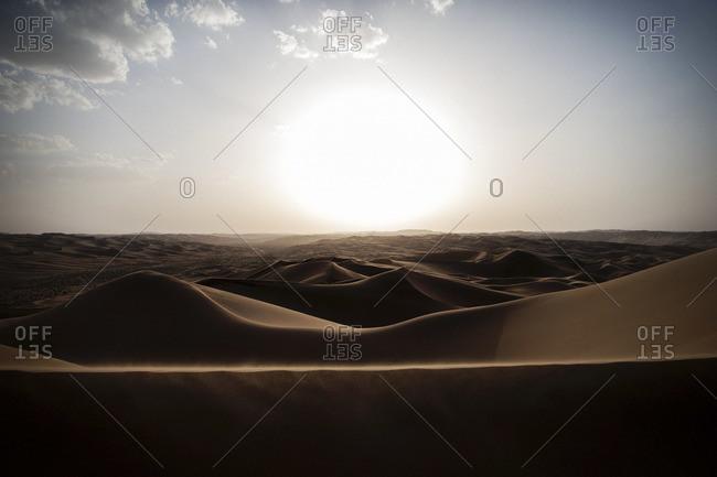 Sunset in the desert - Offset