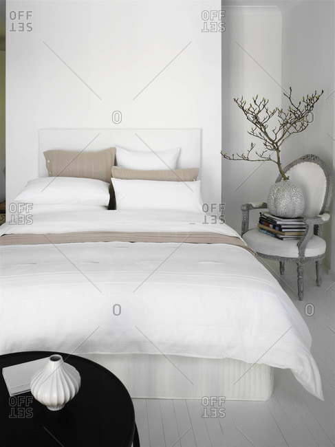 Interior of a bedroom - Offset