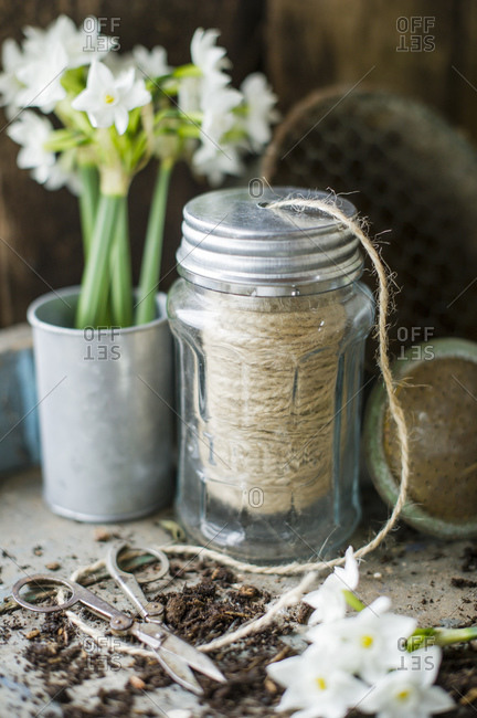 Rope bundle stored in jar