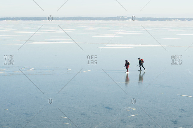 Two people on the ice