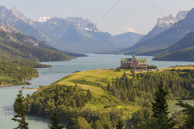 Hotel at Waterton Lakes National Park, Alberta, Canada
