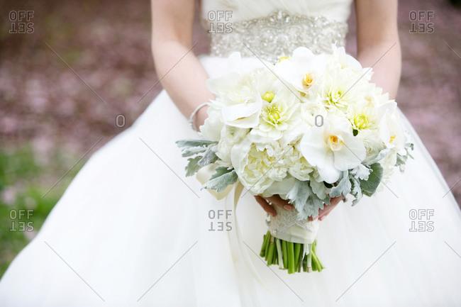 Bride holding a bridal bouquet
