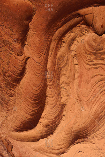 Wind erosion on soft sandstone layers