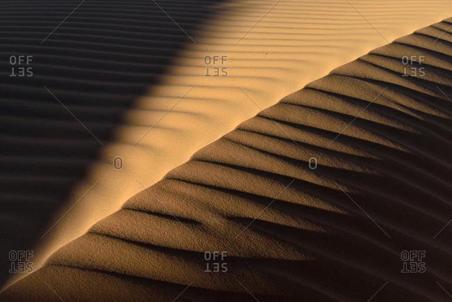 Sand ripples on a desert dune