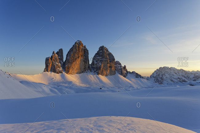 Tre Crime di Lavaredo in the evening