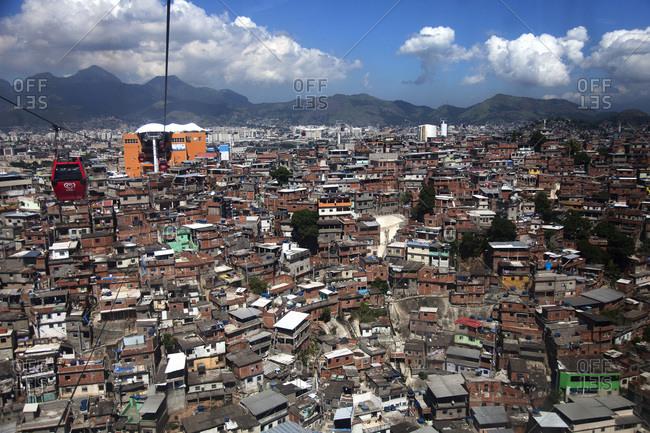 Aerial tram above Rio de Janeiro