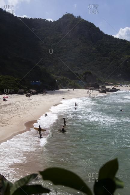 Sandy beach in Rio de Janeiro