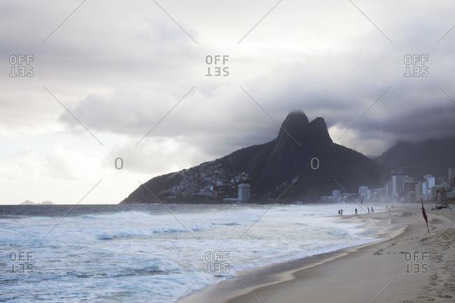 Overcast view of Ipanema beach, Rio de Janeiro