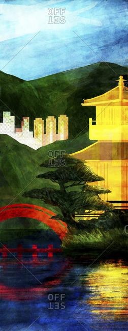 Illustration of Nan Lian Gardens in Hong Kong