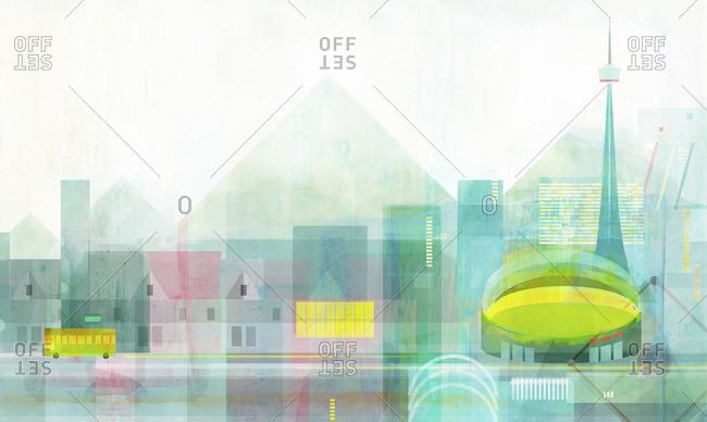 Landscape Illustration of Toronto