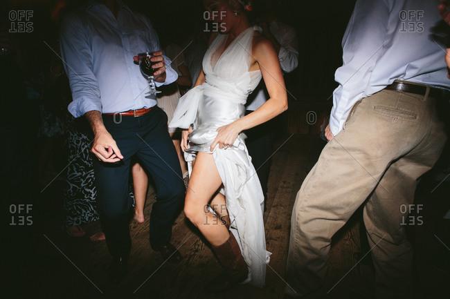 Bride dancing on wedding party