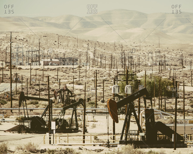 At the Midway-Sunset oil fields outside Bakersfield, crude oil is extracted from Monterey Shale