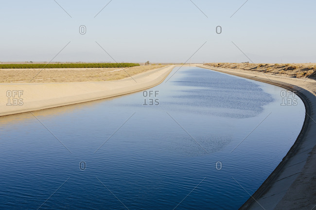 The water helps irrigate the drought-ridden agricultural area of the Central Valley California