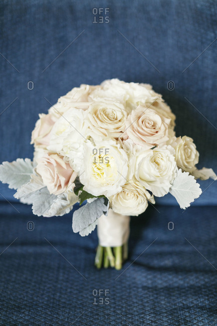 Bridal bouquet prepared for wedding ceremony