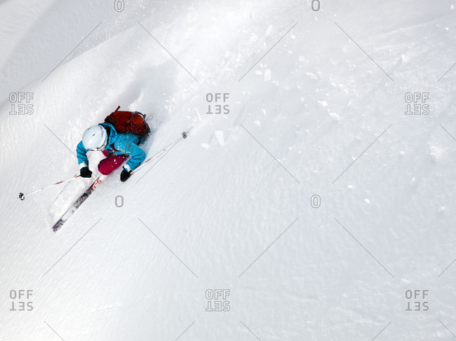 Person skiing downhill