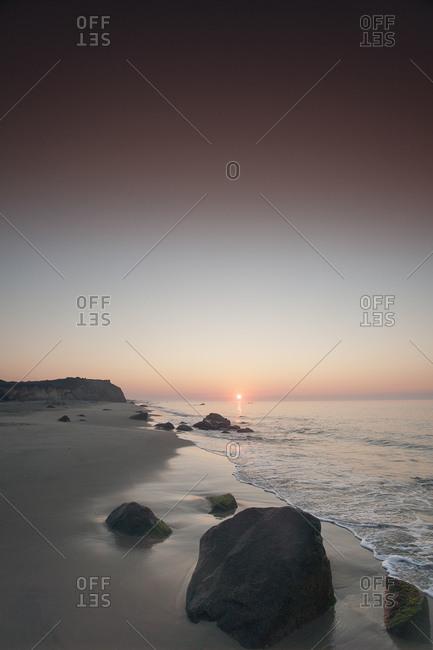 Sunrise on Lucy Vincent beach on Martha's Vineyard