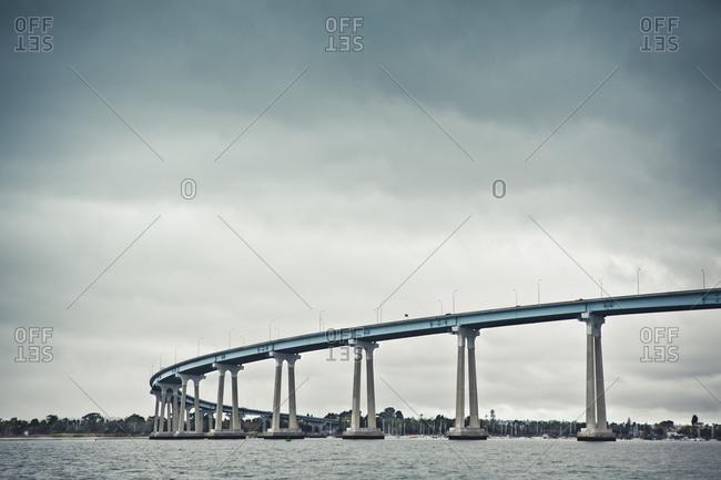 A curved section of the San Diego-Coronado Bridge