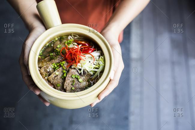 Bun Bo Hue dish, Lang Co in central Vietnam.