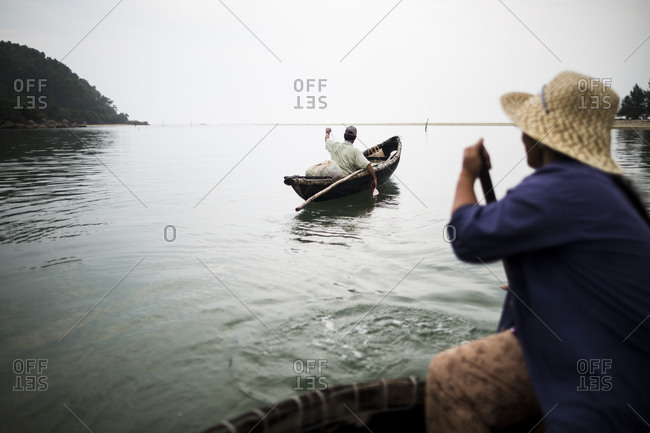 A fisherman at a fishing village in Lang Co, in central Vietnam.