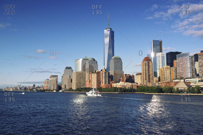 World Trade Center in downtown New York City