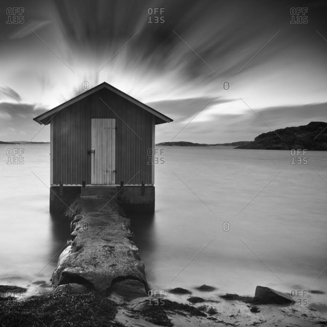 Fishing hut on coast