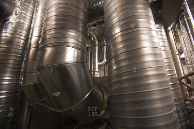 Close-up of ventilation pipes