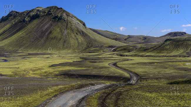 F208 road South of Landmannalaugar in Iceland