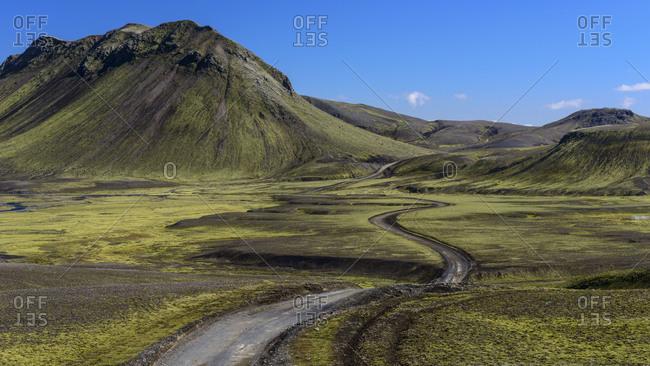 F208 road South of Landmannalaugar in Iceland