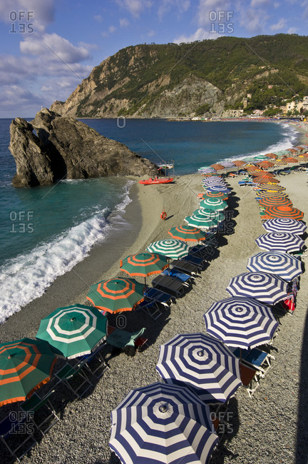 Umbrellas of Monterosso beach