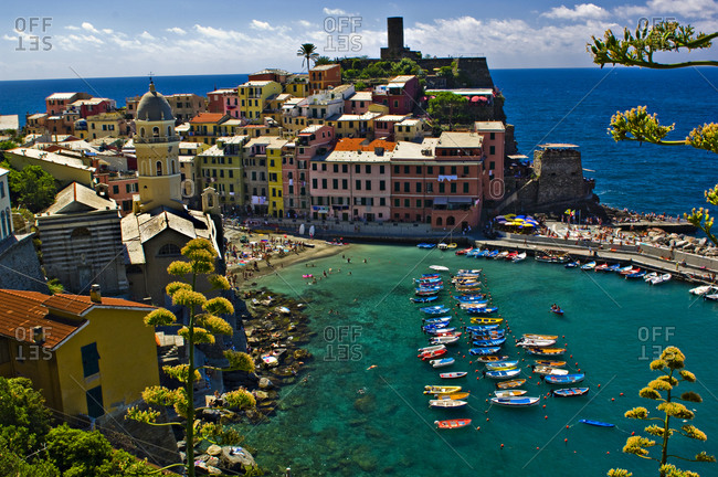 Overlooking the town of Vernazza