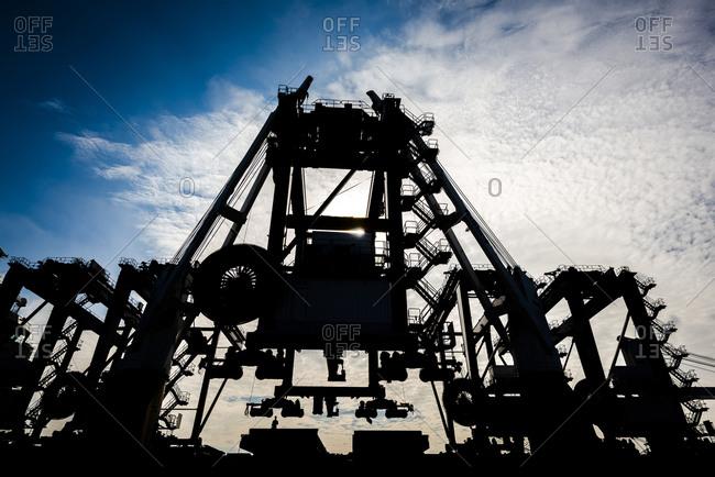 Large crane at shipyard
