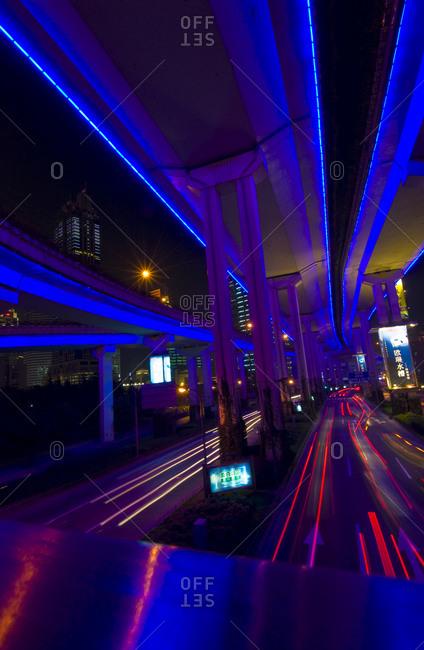 Illuminated overpass