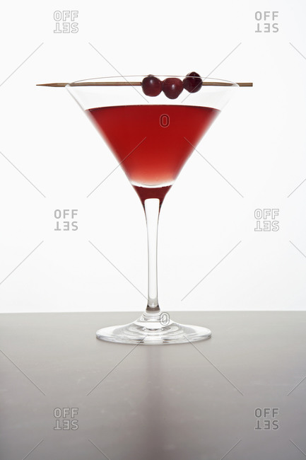 Cosmopolitan cocktail on white background