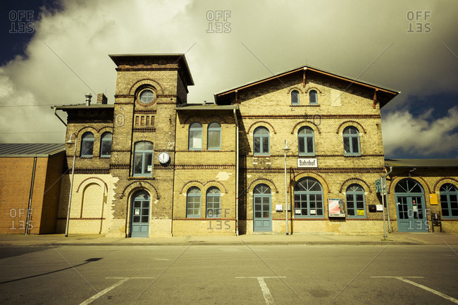 Train station building, Bergen, Germany