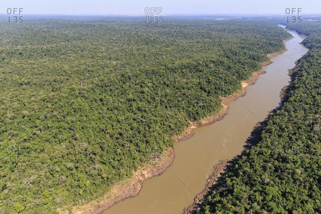 South America, Brasilia, Parana, Iguazu National Park, Iguazu river
