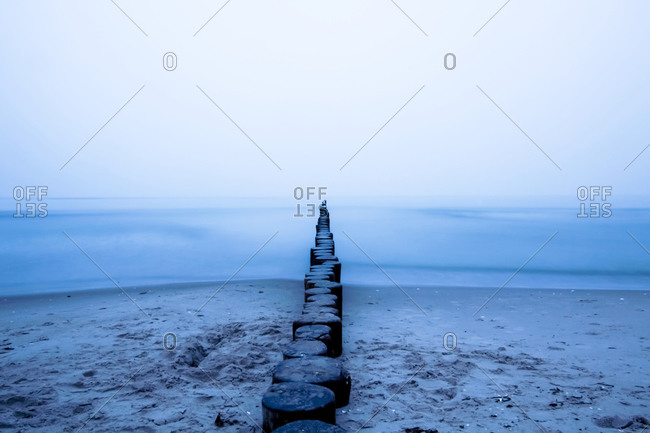 Baltic Sea, Breakwater in the evening