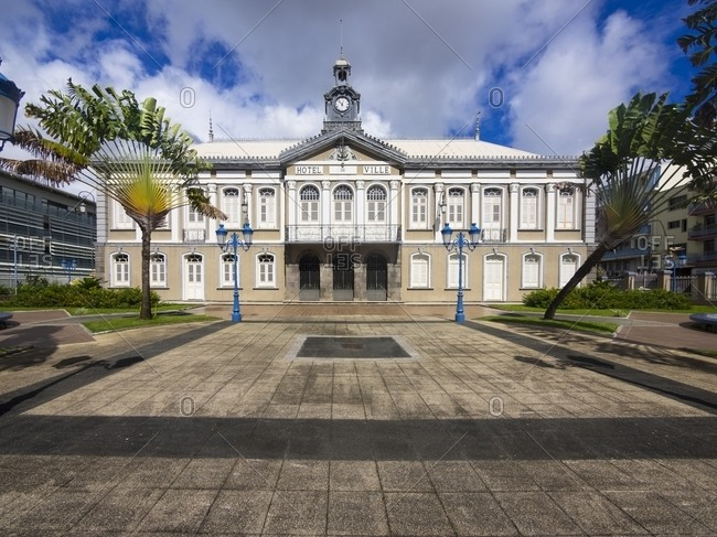 Fort de France, Town hall, Caribbean