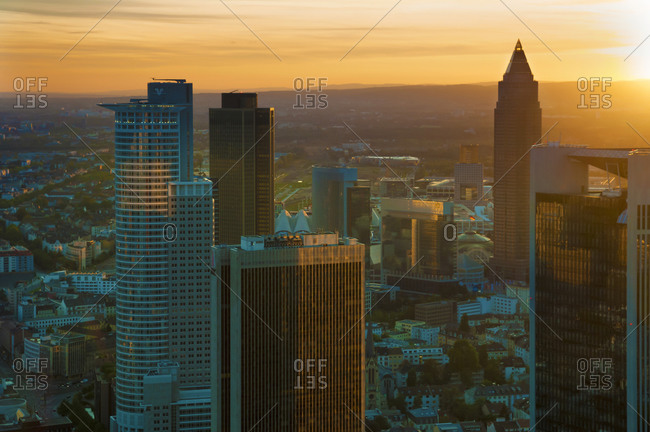View of the financial district, Frankfurt