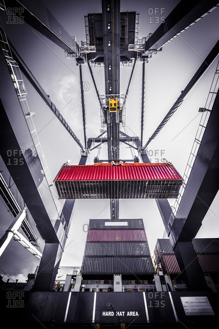 Ship-to-shore crane at the SPRC Container Terminal in Cartagena, Colombia