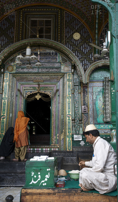 Srinagar, Kashmir, India - September 3, 2012: Khanqah of Shah Hamadan in the old town of Srinagar, Kashmir, India