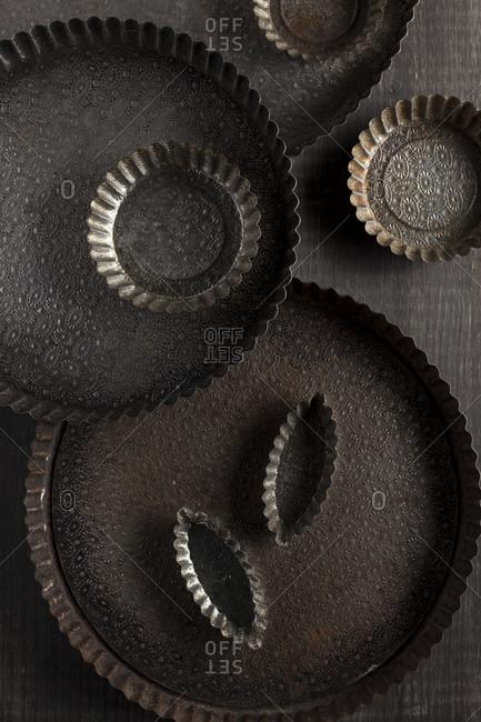 Variety of tart pans