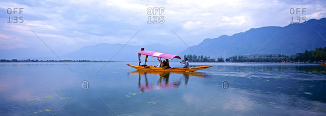 Kashmir, India-  September 4, 2012: Shikara On Dal Lake Srinagar