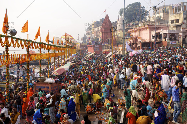 Pradesh, India- November 10, 2011: The Ghats At Varanasi Uttar