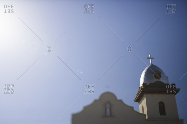 Dome of church under blue sky