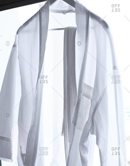 Hanging white shirt
