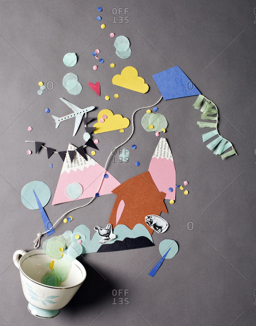 A cup bursting with creativity
