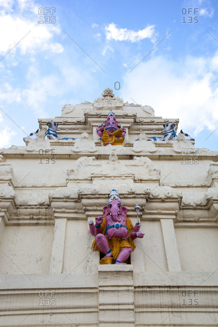 Ganesha statutes on temple - Offset