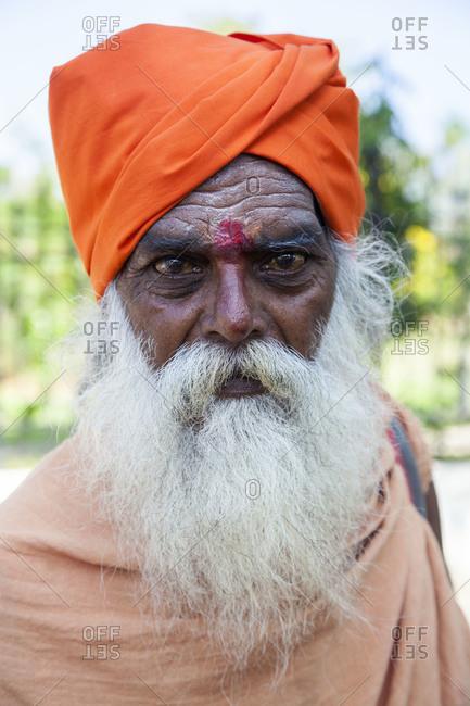 PUDUCHERRY, India- May 1,2014: Portrait of a Sikh man