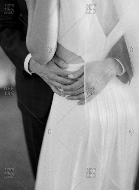 Black and white image of dancing couple
