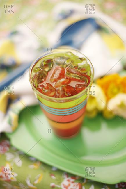 Close up of sweet tea